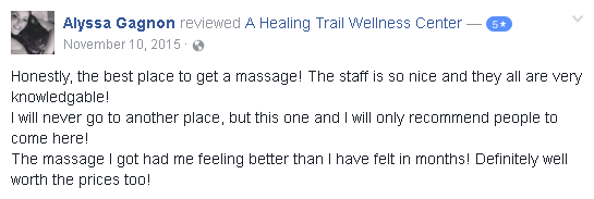 Reviews of massage at A Healing Trail